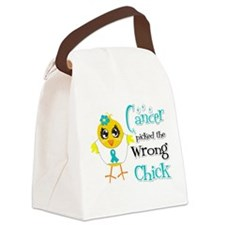 Peritoneal Cancer Picked The Wrong Chick Canvas Lu
