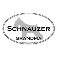 Schnauzer GRANDMA Oval Decal
