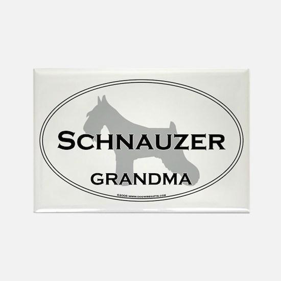 Schnauzer GRANDMA Rectangle Magnet