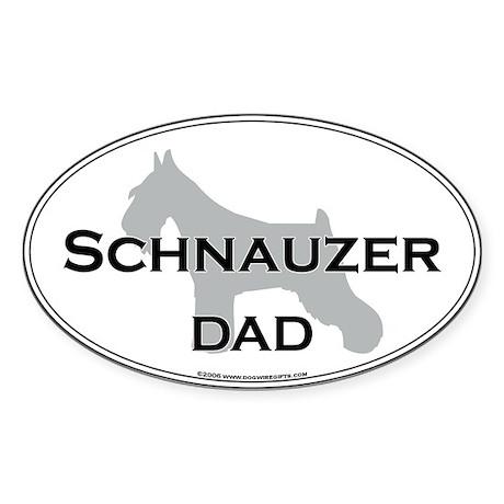 Schnauzer DAD Oval Sticker