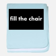 FILL THE CHAIR baby blanket