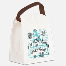 CAKEGETTINGMARRIED.png Canvas Lunch Bag