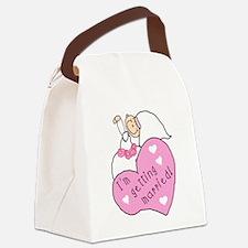gettingmarriedgirltee.png Canvas Lunch Bag
