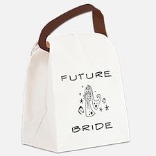 blackwhitefuturebride.png Canvas Lunch Bag