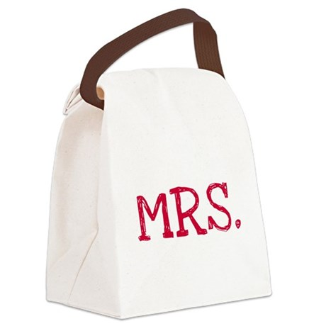 MRSREDBLAK.png Canvas Lunch Bag