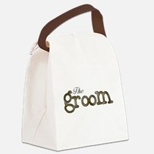 SILVERGOLDGROOM.png Canvas Lunch Bag