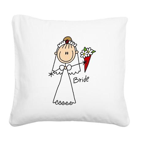 wedstickfigure5.png Square Canvas Pillow