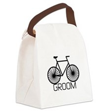 bikegroom.png Canvas Lunch Bag