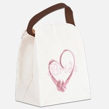 BLPINKHEARTRIBBON.png Canvas Lunch Bag