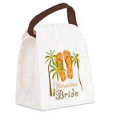 fliphawaiianbride.png Canvas Lunch Bag