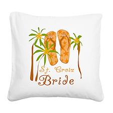 flipstcroixbride.png Square Canvas Pillow