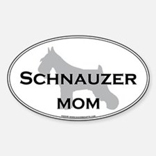 Schnauzer MOM Oval Decal