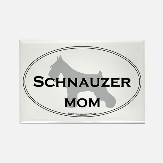 Schnauzer MOM Rectangle Magnet