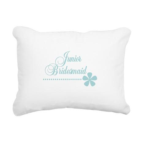 juniorbridesmaidteal.png Rectangular Canvas Pillow