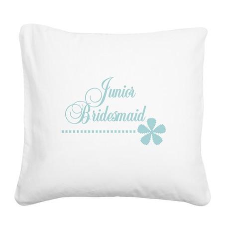 juniorbridesmaidteal.png Square Canvas Pillow