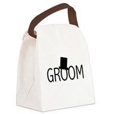 blacktextgroomtae.png Canvas Lunch Bag