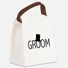 blacktextgroomtae.png Canvas Lunch Bag