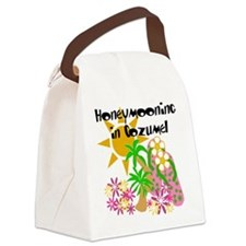 honeymooncozumel.png Canvas Lunch Bag