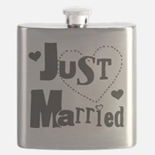 Just Married Black Flask