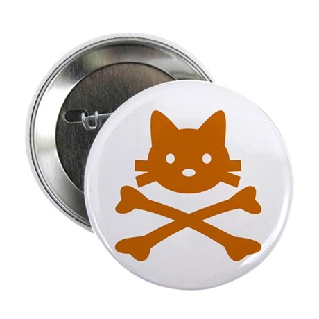 "Pirate Cat Skull 2.25"" Button (10 pack)"
