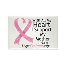 Mother-in-Law Breast Cancer Rectangle Magnet