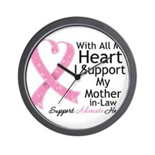 Mother-in-Law Breast Cancer Wall Clock
