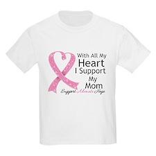 Heart Mom Breast Cancer T-Shirt