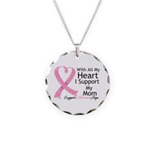 Heart Mom Breast Cancer Necklace