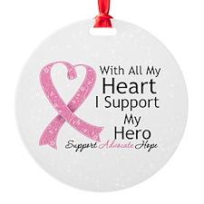 Heart Hero Breast Cancer Ornament