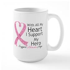 Heart Hero Breast Cancer Mug