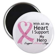 Heart Hero Breast Cancer Magnet