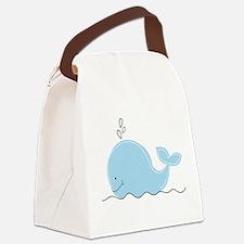 Little Blue Whale Canvas Lunch Bag