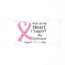 Heart Girlfriend Breast Cancer Aluminum License Pl