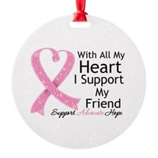 Heart Friend Breast Cancer Ornament