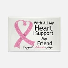 Heart Friend Breast Cancer Rectangle Magnet