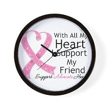 Heart Friend Breast Cancer Wall Clock