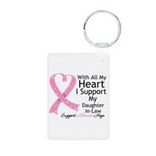 Heart Daughter-in-Law Breast Cancer Keychains