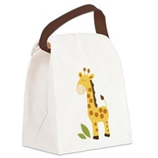 Yellow / Orange Cute Giraffe Canvas Lunch Bag