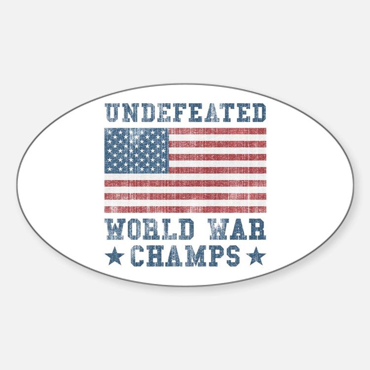 Undefeated World War Champs Decal