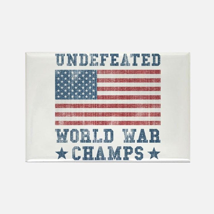 Undefeated World War Champs Rectangle Magnet