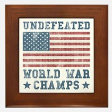 Undefeated World War Champs Framed Tile