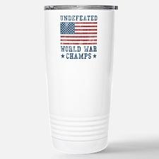 Undefeated World War Ch Stainless Steel Travel Mug
