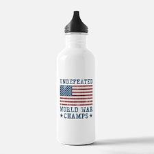 Undefeated World War C Water Bottle