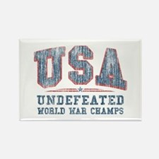 V. USA World War Champs Rectangle Magnet