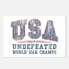 V. USA World War Champs Postcards (Package of 8)