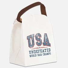 V. USA World War Champs Canvas Lunch Bag