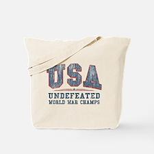 V. USA World War Champs Tote Bag