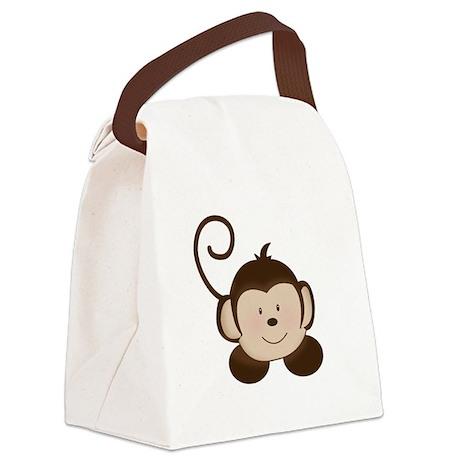 Pop Mod Monkey Canvas Lunch Bag