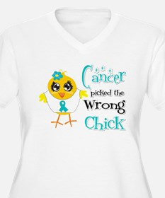 Ovarian Cancer Picked The Wrong Chick T-Shirt
