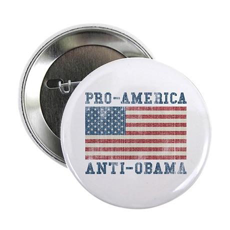 """V. Pro-America Anti-Obama 2.25"""" Button"""